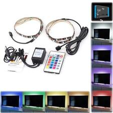 2x 50cm RGB Color Change USB LED Strip Light TV PC Computer Background Light Kit