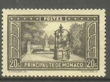 """MONACO STAMP TIMBRE N° 134 """" PLACETTE F. BOSIO 20F NOIR """" NEUF xx SUP"""