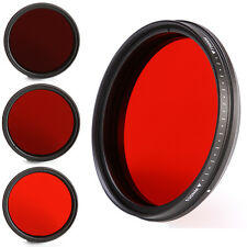 Adjustable 58mm Infra-Red IR Lens Filter 530nm to 750nm 590nm 630nm 680nm 720nm