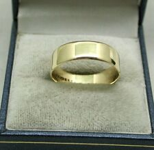 Gents / Ladies Plain 9ct Gold Wedding Ring 6.40mm Wide