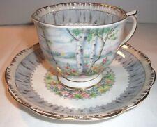 Royal Albert Bone China  Silver Birch Tea Cup & Saucer