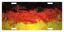 GERMANY Flag Custom License Plate GERMAN Emblem Paint Version