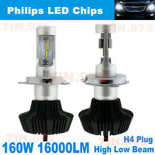 2x Philips LED Chips 160W 16000LM H4 9003 HB2 Headlight Kit H/L Beam Bulbs 6000K