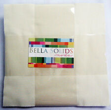 "Bella Solids SNOW Layer Cake, Precut 10"" Squares, 9900LC 11, Solid Ivory Fabric"