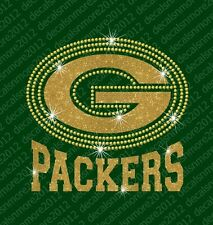 NFL - Green Bay Packers - Bling - Iron-on Glitter Vinyl & Rhinestone Transfer