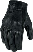 NEW ICON PURSUIT GLOVES STREET BIKE MOTORCYCLE MEN'S LARGE BLACK