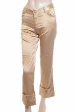 New Satin Capri 3/4 Length Trousers Gold Size 12 (42)