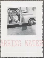 Vintage Car Photo Pretty Girl in 1946 1947 1948 Ford Automobile 734071