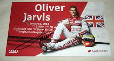 Le Mans 2015 - FIA WEC - Audi R18 - Oliver Jarvis Signed Card