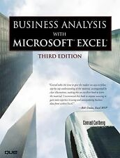 Business Analysis with Microsoft Excel (3rd Edition) Carlberg, Conrad Books-Good