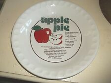 "Vintage Mount Clemens Pottery 11"" Apple Pie Recipe Pie Plate"