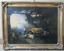 ANTIQUE Oil Painting Listed Austrian Europe Artist OTTO SCHINDLER 1843-1914.