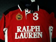 NWT Medium Polo Ralph Lauren Custom-Fit Snow Rugby Jersey Bear Crest Spell Out