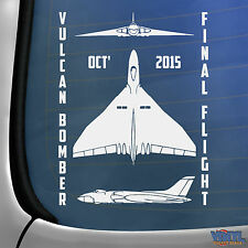 Vulcan Bomber Final Flight Doncaster Car Window Sticker Airplane Vinyl Decal