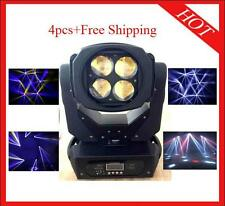 4pcs 4*25W Supper Led Beam Moving Head Stage Light Flight Case Free Shipping