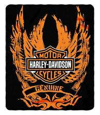 Harley-Davidson Skid Out Fleece Throw Blanket, Winged Bar & Shield Logo NW047075