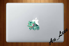 Macbook Air Pro Vinyl Skin Sticker Decal Pokemon Go Game Bulbasaur Cute cmac216