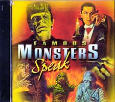 FAMOUS MONSTERS SPEAK: EXCLUSIVE RECORDINGS OF FRANKENSTEIN & DRACULA! HALLOWEEN
