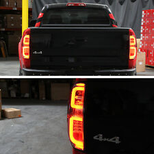 2014 2015 2016 Toyota Tundra LED Plasma Tube Smoked Tail Lights Lamps Pair 14-16