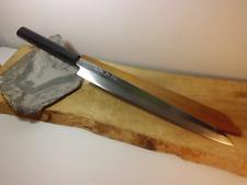 OLD: Japanese Kitchen knife/ Yanagiba  290/450mm/ Kuniyuki  8gon ebony horn Hdl