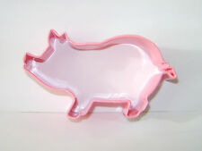 NEW PINK PIG SHAPED COOKIE BISCUIT PASTRY CUTTER ANNIVERSARY HOUSE