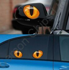 Cool Funny Diablo Ojos de Gato Insignia Pegatina Calcomanía Coche VW Golf Polo Fox UP Caddy