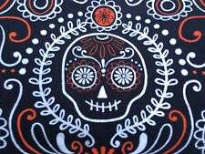 Reversible Dog Scarf/Bandana, Fall/Halloween, Day of the Dead/Candy Corn