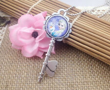 Hot FROZEN PENDANT Silver Plated CHAIN NECKLACE ROYAL PRINCESS X3