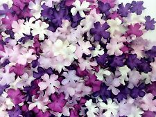 100 Mixed Purple Tone & White  Flowers mulberry paper for Craft & D.I.Y #02