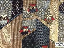 TP013 Owls Birds Modern Japanese Patchwork Forest Trees Cotton Quilt Fabric