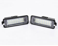 2x24LED Number License Plate Light Lamp For VW GOLF GTI MK4 MK5 MK6 PASSAT POLO