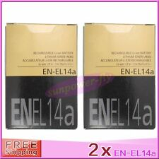 2 x EN-EL14A ENEL14A battery for Nikon P7100 P7700 D5300 D5200 MH-24 EN-EL14