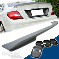 MERCEDES W204 C-CLASS 4D SALOON REAR TRUNK SPOILER WINGS C63 C280 C300 08-13