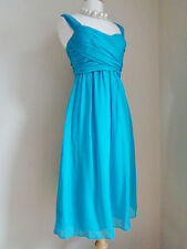 LK BENNETT TURQUOISE PURE SILK ELEGANT FORMAL  DRESS SZ UK 6