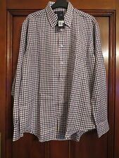 Mens Brand New brown checked James Pringle Shirt Long Sleeves Size M