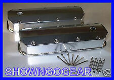 FABRICATED ALUMINIUM ROCKER COVERS BBC CHEV DRAG HOTROD STRAIGHT EDGE SHEETMETAL