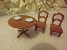 Calico Critters Table and chair Dollhouse furniture Table and Chair dishes