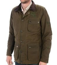 Barbour Insulated Thomas Jacket Steve McQueen Waxed Cotton Mens Medium Olive