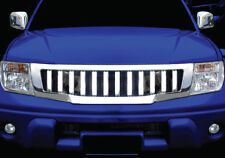 FOR NISSAN FRONTIER NAVARA D40 05-09 FRONT HEAD CHROME GRILL GRILLE HUMMER STYLE
