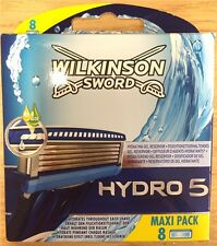 Genuine Wilkinson Sword Hydro 5 Mens Razor Blades 8 Pack Refill Cartridges Boxed