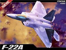 Academy Plastic Model Kit 1/72 F-22A Raptor Air Dominance Fighter # 12423