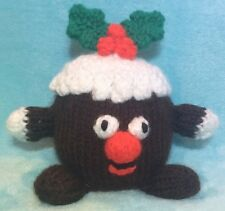 KNITTING PATTERN - Chubby Pudding choc orange cover / 10 cms Christmas toy