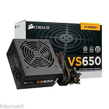 CORSAIR VS650 50 AMP SINGLE RAIL ATX QUIET POWER SUPPLY SATA MOLEX 8 (4+4) PIN