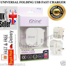 GENUINE UNIVERSAL FOLDING USB FAST QUICK CHARGER FOR SAMSUNG APPLE NOKIA HTC