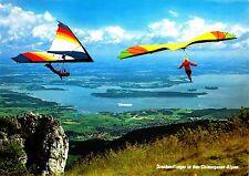 Drachenflieger in den Chiemgauer Alpen , Ansichtskarte, 1980 gelaufen