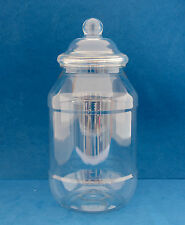 9 x 1000ml Clear Plastic Round Jars with Domed Screw Caps