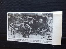 m11e ephemera 1940s ww2 picture Malayan  native regiment prepare an ambush