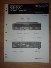 Kenwood Service Manual~GE-800 Graphic Equalizer~Original Repair Manual