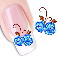 Nail Art Sticker Water Decals Transfer Stickers Flowers Floral (DX1185)