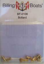 Billing Boats Accessory BF-0106 - 10 x 4mm x 7mm Brass Bollard New Pack